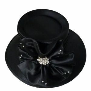 Black dress hat